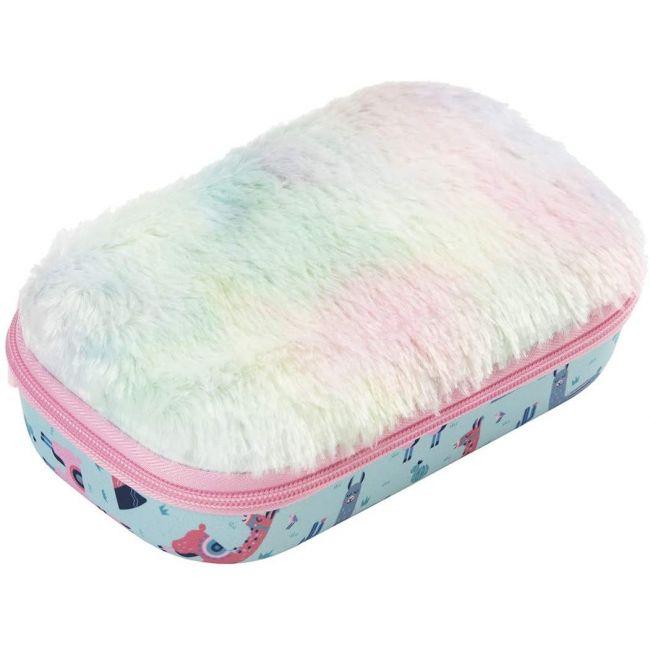 Zipit - Fur Pencil Box/Storage Box, Llama (Fub-3)