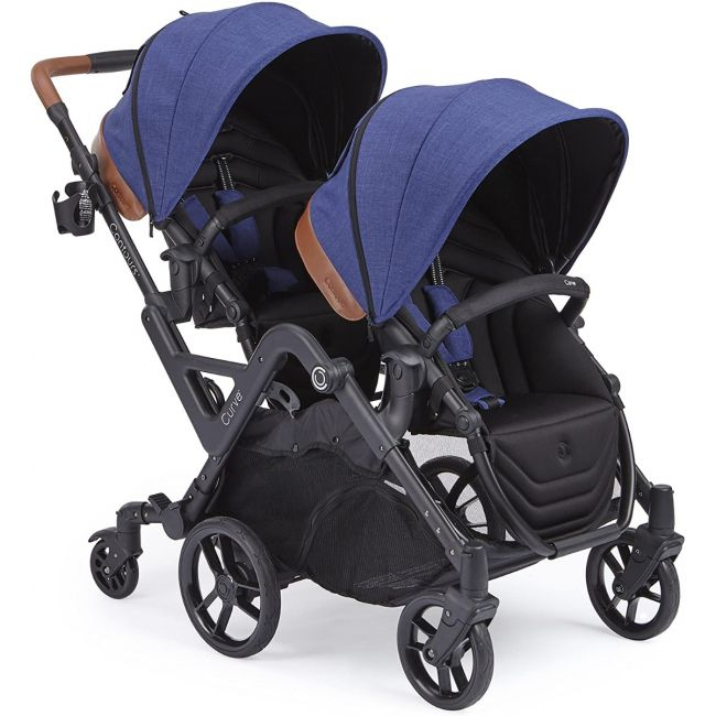 Kolcraft Contours Curve Double Stroller Indigo Blue